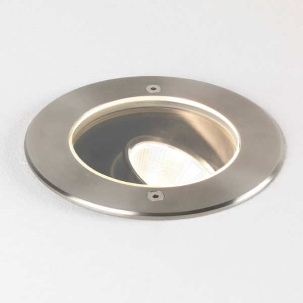 Cromarty 150 LED Adjustable Exterior Ground Light Brushed Stainless Steel