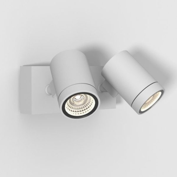 Bayville Twin Adjustable LED Spotlight Textured White