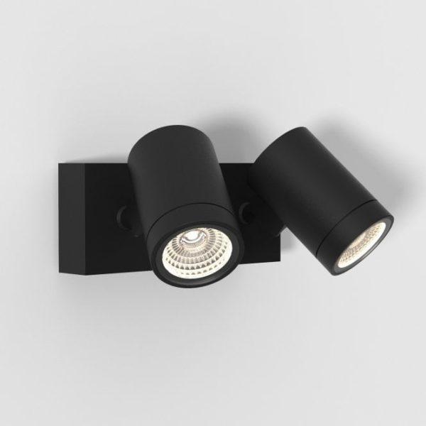 Bayville Twin Adjustable LED Spotlight Textured Black