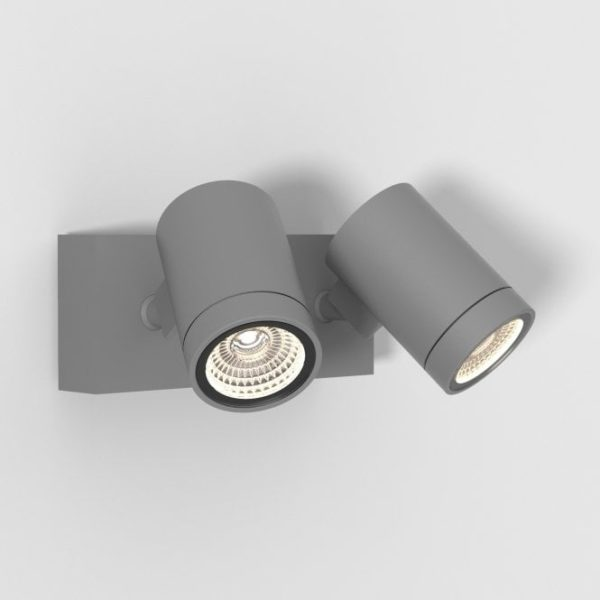 Bayville Twin Adjustable LED Spotlight Textured Grey
