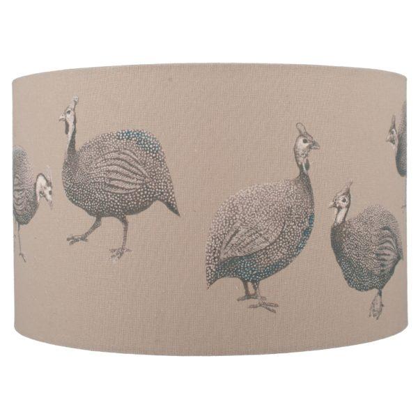 30cm Jenny Worrall Guinea Fowl Linen Shade