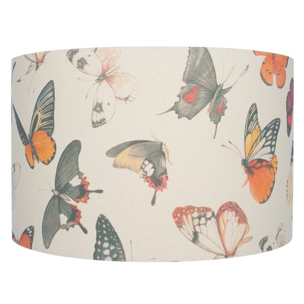 40cm Jenny Worrall Butterflies Linen Shade