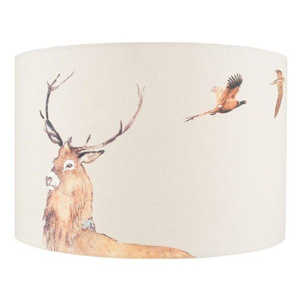 30cm Jenny Worrall Deer Linen Shade