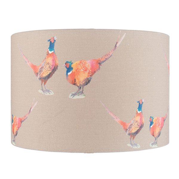 35cm Jenny Worrall Pheasant Linen Shade