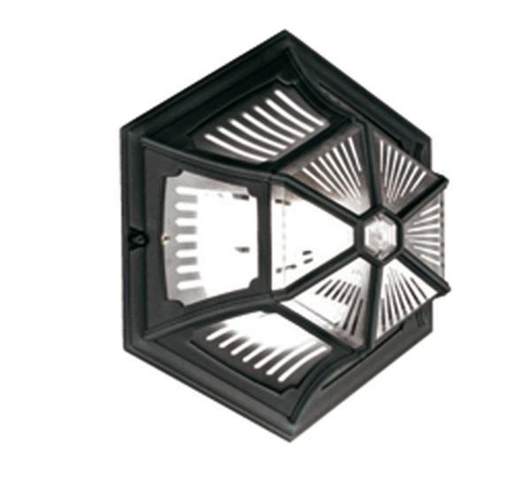 Parish Flush Ceiling Lantern Black