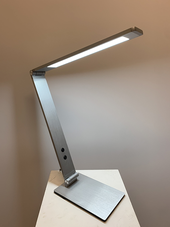 Grade Table Lamp - Brushed Aluminium